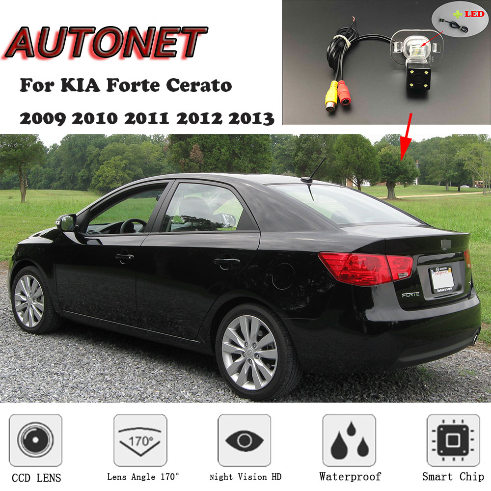 AUTONET HD Night Vision Backup Rear View Camera For KIA Forte Cerato 2009 2010 2011 2012 2013 /CCD/license Plate Camera