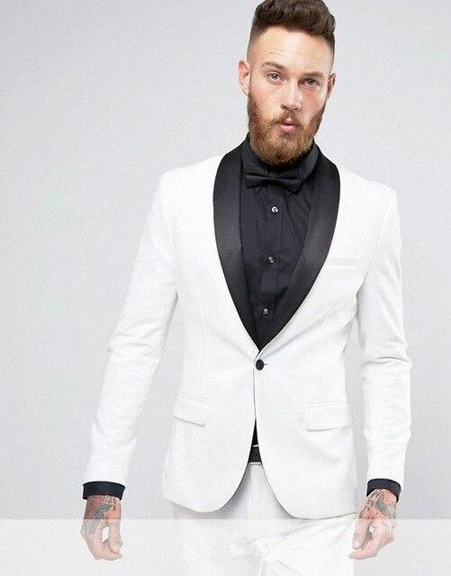 2017 Latest Coat Pant Designs Ivory Men Suit Slim Fit 2 Piece Prom ...