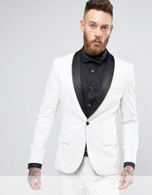 2017 Latest Coat Pant Designs Ivory Men Suit Slim Fit 2 Piece Prom Tuxedo Custom Suits Groom Blazer Terno Masculino Jacket+Pant