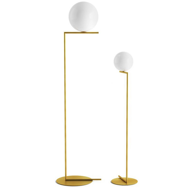 Creative simple floor lamps glass ball standing lamp chrome gold for creative simple floor lamps glass ball standing lamp chrome gold for living room bedroom new design mozeypictures Gallery