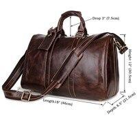 Модные Натуральная кожа дорожная сумка человек из мягкой коровьей кожи путешествия вещевой женские багаж выходные вести extra large Сумка