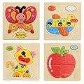 1 Pcs 16 Formas Animais Jigsaw Brinquedos Para As Crianças Do Bebê Crianças Brinquedos Educativos Brinquedos de Inteligência De Madeira Quente Precipitação Dos Desenhos Animados Puzzle Brinquedo