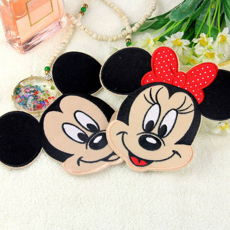 Cartoon Kids Minnie Mickey Iron On Embroidered Patch Clothes Patches For Clothing Girls Boys Wholesale