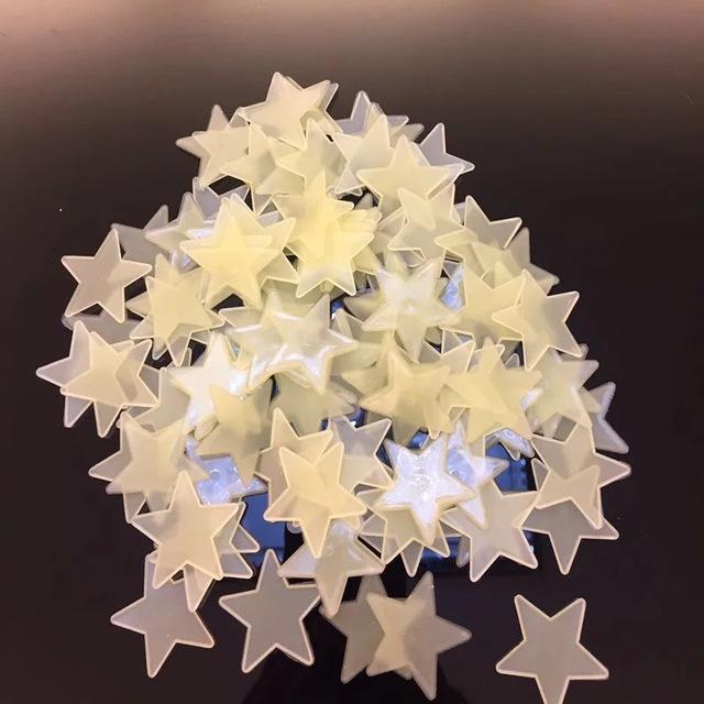 Glow In The Dark Stars Fluorescent Stickers