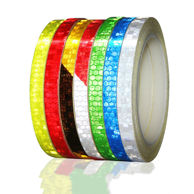8mx1cm Universal Motorcycle Reflective Stickers Strips DIY Night Light Safety Warning Reflective Tape Wheel Rim Decal Sticker
