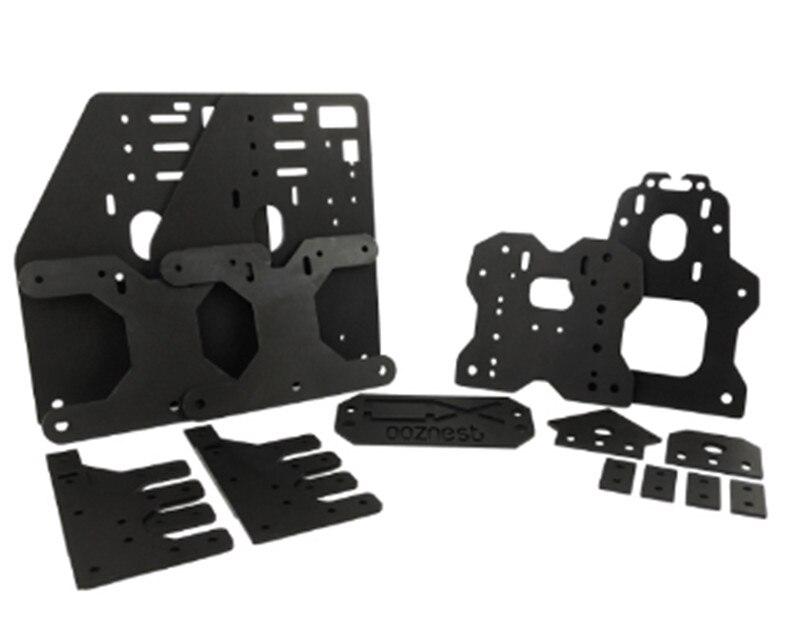 SWMAKER Black Color Ooznest OX CNC ALUMINIUM Plates KIT For 23 NEMA Stepper Motor