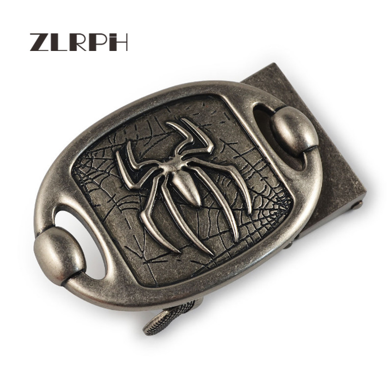 ZLRPH High-grade Retro Alloy Automatic Buckle Antique Do Old Buckle Head Spider Three-dimensional Buckle Wholesale