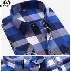 4xl cotton flannel men shirts 2017 fashion spring long plaid shirt men long sleeve plaid striped.jpg 250x250