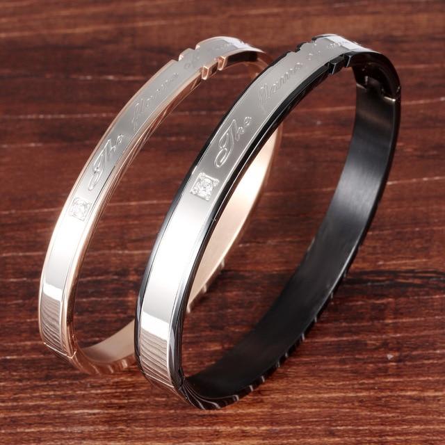 Купить браслет из титановой стали циркониевые браслеты для пар буквы