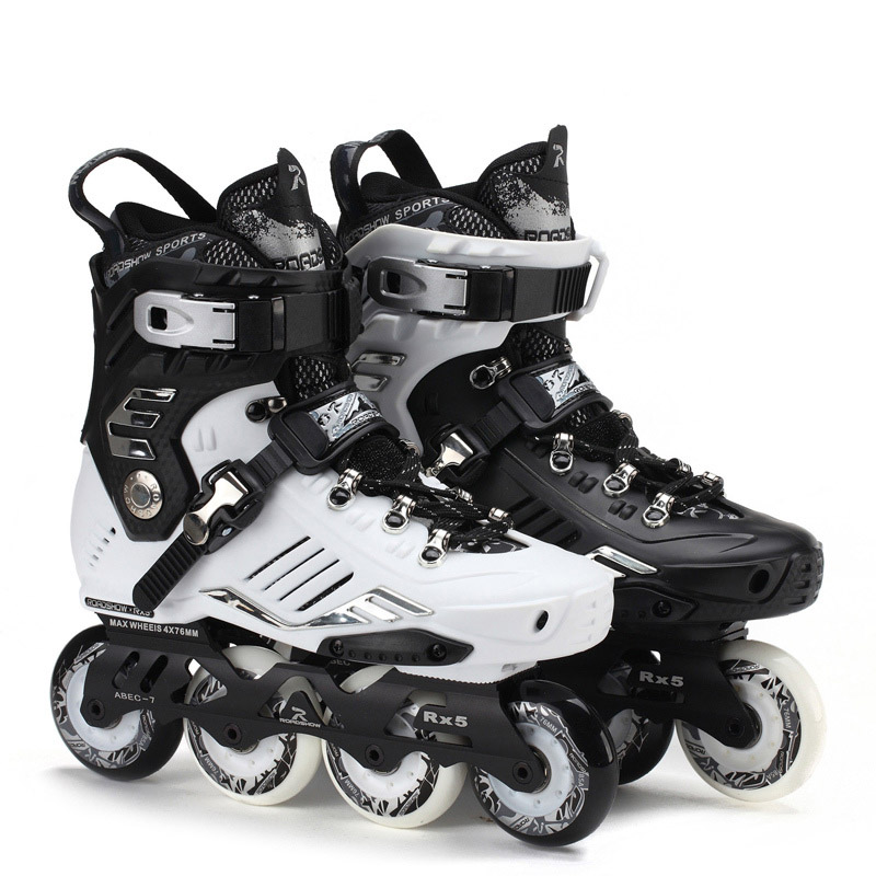 Roadshow RX5 Slalom Inline Skates Adult Skating Shoes Black White 85A PU Wheels For Free Skating Sliding Street Skating adult s roller skates inline skating f2 2013 white and black flying eagle f2