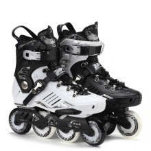Roadshow RX5 Slalom Inline Skates Adult Skating Shoes Black White 85A PU Wheels For Free Skating Sliding Street Skating