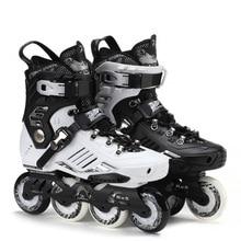 Roadshow RX5 Slalom Inline Skates Adult Skating Shoes Black White 85A PU Wheels For Free Skating Sliding Street Skating
