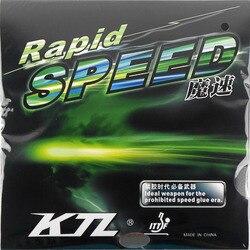 KTL rapide vitesse rapide Pips-en caoutchouc de Tennis de Table avec éponge pour Ping-Pong raquette raquette Bat balles de Tennis de Table