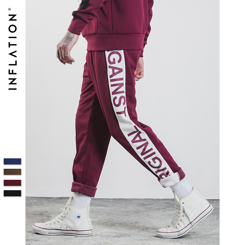 Inflation 2017 New Autumn Mens Sportswear Pants Side