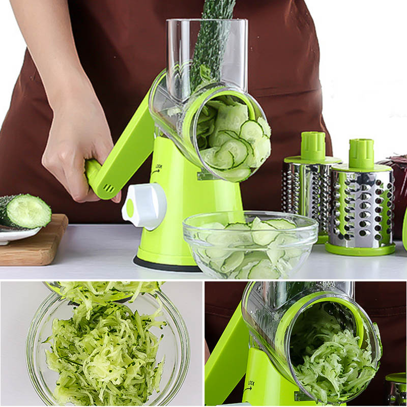 Manual Round Vegetable Slicer Vegetable Chopper Cutter Potato Julienne Carrot Slicer Cheese Grater Blades Kitchen Tool