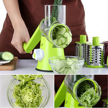 Manuelle Runde Gemüseschneider Gemüse Chopper Cutter Kartoffel Julienne Carrot Slicer Käsereibe Klingen Küche Werkzeug