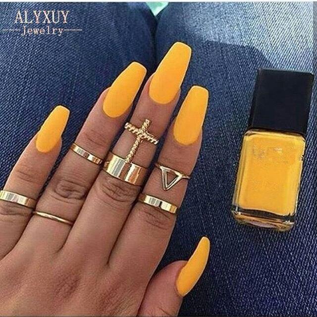 New fashion trendy jewelry cross finger ring set gift for women girl R5040