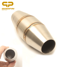 Motorcycle Catalyst Exhaust Muffler Middle Tube Link Pipe Silencer Noise Sound Eliminator Escape Moto Metallic Sports Catalyze 1 4bsp male thread plastic pneumatic silencer muffler noise exhaust white 30pcs