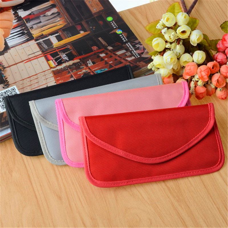 Universal Cell <font><b>Mobile</b></font> <font><b>Phone</b></font> Anti Radiation RF Signal Shielding Blocker Case Bag Pouch <font><b>Jammer</b></font> Pouch Case For iPhone For Samsung