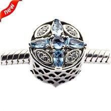 Se adapta a pandora charms pulsera de plata esterlina de joyería de perlas de cristal para la joyería haciendo patrones de frost silver charm fandola 470