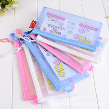 Transpa Mesh Pencil Case Back To School Bag For Kids Gift Cosmetic Large Capacity
