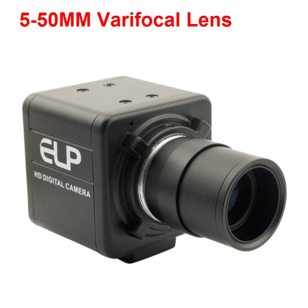 5-50mm Varifocal Lens 8 MegaPixels IMX179 Color Sensor Mini HD CCTV Surveillance USB Video Camera For Android Linux Windows