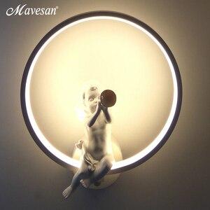 Image 2 - Lampe murale minimaliste, éclairage dintérieur, avec oiseau ange, en noir et blanc, décoration pour la maison, offre spéciale