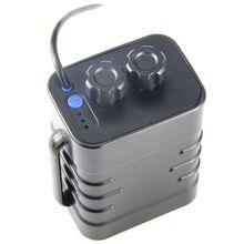 6 قسم 18650 مقاوم للماء علبة البطارية 18650 بطارية حزمة 5 فولت USB / 8.4 فولت تيار مستمر واجهة مزدوجة 18650 مقاوم للماء صندوق بطارية