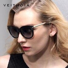 VEITHDIA Retro TR90 Vintage Large Sun glasses Polarized Cat Eye Ladies Designer Women Sunglasses Eyewear Accessories Female 7016