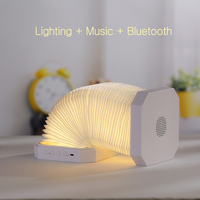 LED Nightlight USB rechargeable LED folding lamp creative ,Built in bluetooth speaker Listening to music