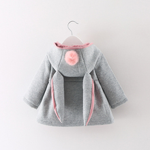 new Autumn Winter Baby Girls Infants Kids Ball Cute Rabbit Hooded Princess Jacket Outwears Coats Christmas Gifts Roupas Casaco