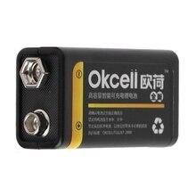 Новая горячая 9V 800mAh микро USB аккумуляторная Lipo батарея для мультиметра микрофона дистанционного интеллектуального электроники