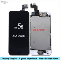 Mobymax 10pcs Lot Camera Home Button LCD Screen Digitizer Assembly Display Sceen For IPhone 5 5C