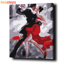TwoSteps DIY Digital Canvas Oil Painting By Numbers Pictures Coloring By Numbers Modern Acrylic Paint By Number Kits Tango Dance