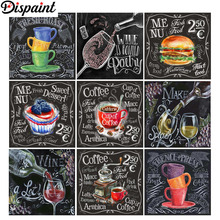 Dispaint Paint With Diamond Embroidery Blackboard painting Painting Full Square Round Picture Of Rhinestone Decor