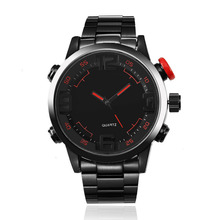Top Brand Luxury Analog Digital Men's Watch Stainless Steel Smart Large Dial Quartz Watches Sports Students Waterproof Watches