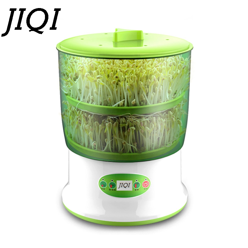 JIQI 2/3 Katmanlar Dijital Akıllı Fasulye Filizi Makinesi Termostat Sebze Fide Büyüme Kova Yeşil Tohumları Büyüyen Makinesi