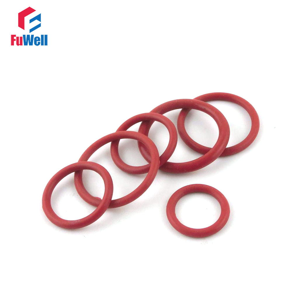 200pcs 2.4mm Thickness Silicon Rubber O-ring Sealing 7/8/9/10/11/12/13/14/15/16mm OD Red Heat Resistance O Ring Seals Gaskets o ring for eheim 2213 and 2013 canister filters red