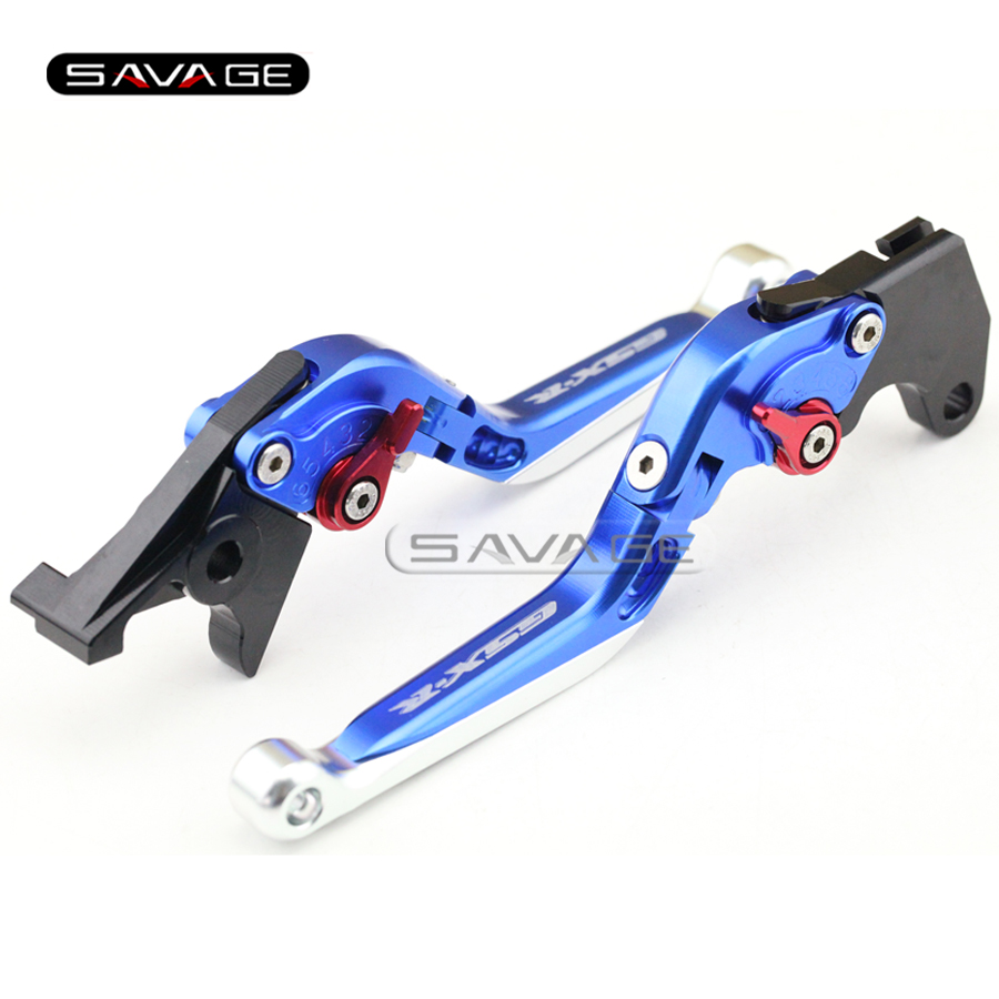 For SUZUKI GSXR 600/750 GSXR600 GSXR750 96-03, GSXR1000 01-04 Motorcycle Adjustable Folding Extendable Brake Clutch Lever Blue new motorcycle adjustable folding extendable brake clutch lever for suzuki gsxr 600 750 gsxr600 gsxr750 96 03 gsxr1000 01 2004