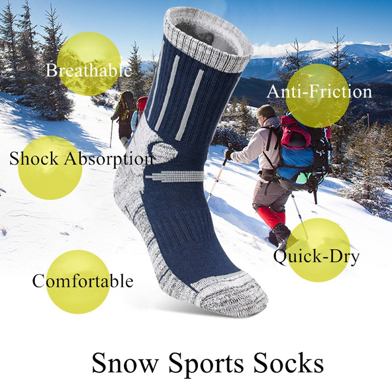 1 Pair/Lot Newest Men Womwn Winter Warm Cotton Socks Outdoor Sport Deodorant Cycling Thicker Warm High Elastic Snowboard Socks