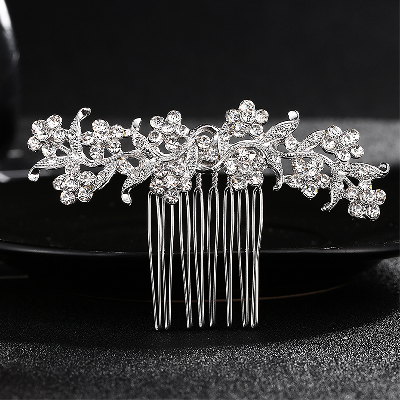 Miallo Wedding Hair Comb Clip for Bridal Rhinestone Hairpins Accessories for Bride Hair Side Combs Jewelry for Women Headpieces 2