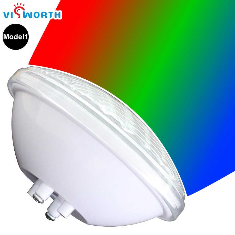 Visworth 24 Вт 36 Вт светодио дный подводные фонари RGB Par56 светодио дный бассейн свет IP68 лампы дистанционного линейный ниша для пруд фонтан