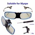 2 pcs x 3d dlp projetor de alumínio tv ativo do obturador óculos para optoma lg benq acer (RX-30) frete Grátis!
