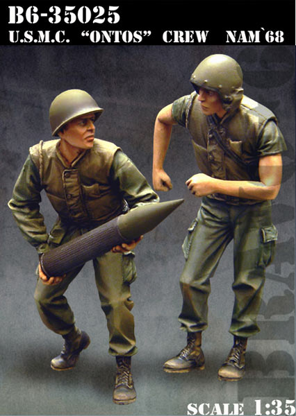 Scale Models <font><b>1</b></font>/ <font><b>35</b></font> soldier U.S.M.C. Ontos Crew <font><b>Vietnam</b></font> <font><b>war</b></font> <font><b>figure</b></font> Historical <font><b>Resin</b></font> Model image