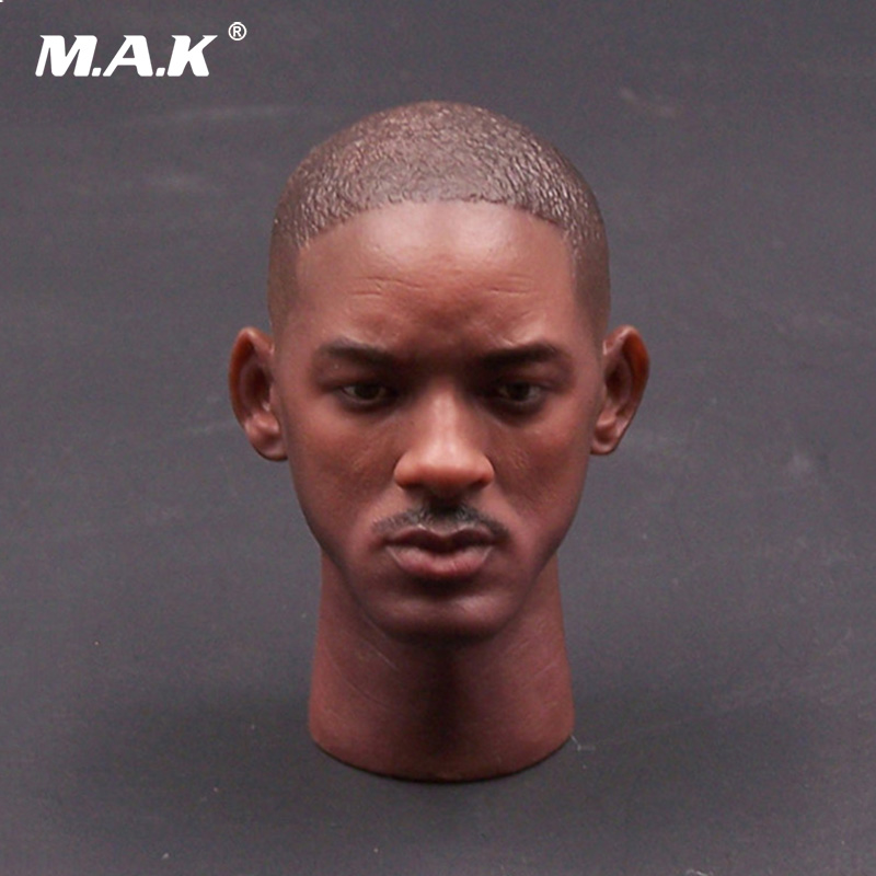1:6 Scale American Star Will Smith Head Sculpt Carving with Neck for 12 inches Male Action Figure Body 1 6 scale male figure carving daredevil punisher jon bernthal head sculpt battle damage version model for 12 body