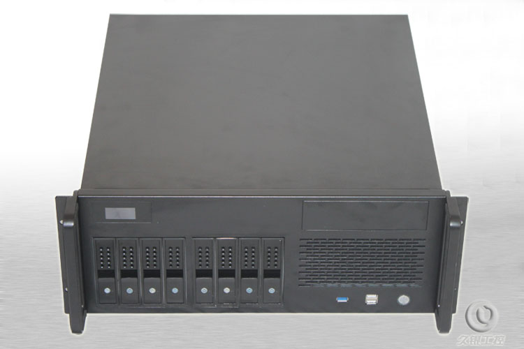 4U Industrial Computer case R4U450-8 support ATX motherboard 8 hot-swap bits LCD real-time monitoring USB3.0 server chassis industrial control motherboard pig1 0 motherboard ai 4u chassis 14 slot 12 pci floor gtb6022 14g 100