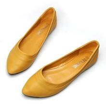Temperament moda płaskie buty damskie miękkie dno wskazał płaskie buty płaskie wygodne retro duże rozmiary obuwia damskiego tanie tanio YAFUKANO Podstawowe RUBBER Slip-on Pasuje prawda na wymiar weź swój normalny rozmiar Na co dzień Płytkie Wiosna jesień