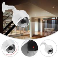 VBESTLIFE Dummy Surveillance Security Camera Dome Flashing LED Fake Security CCTV Camera 360 Rotation Realistic Camera