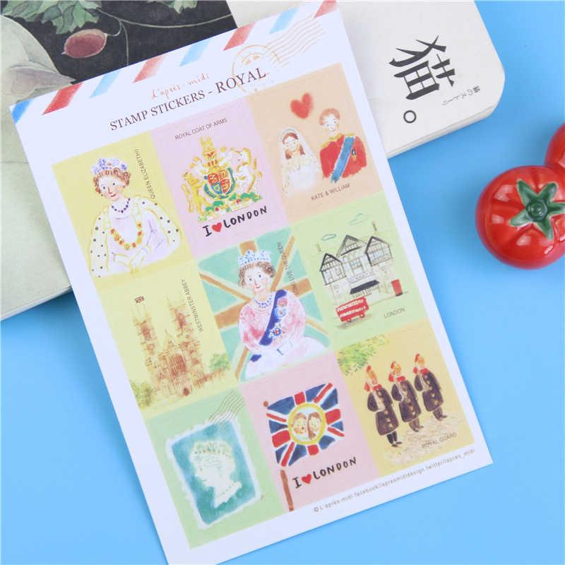 DIY Скрапбукинг милый каваи пейзаж штамп наклейки для дневника блокнот Фотоальбом украшения наклейки канцелярские блокноты для записей