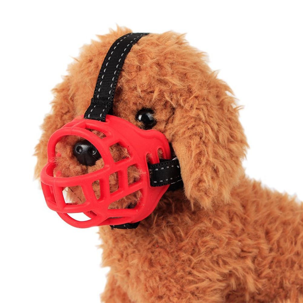 Soft Silicone Dog Muzzle Anti Bite Adjustable Guard Puppy Mouth Mask Pet Supply